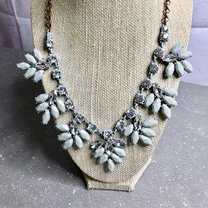 J Crew Grey Floral Necklace